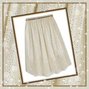 ☆New Fabkids Girls Ivory/Gold Shimmer Tulle Skirt!